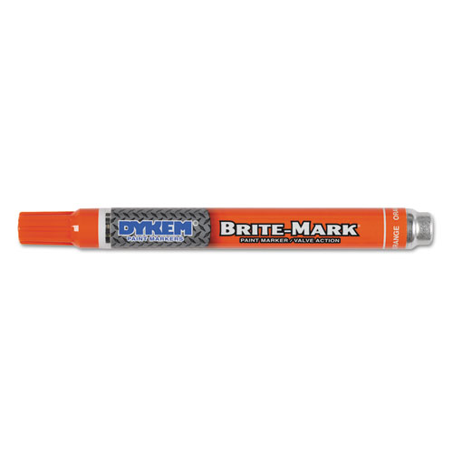 Dykem brite mark paint marker bullet medium tip orange for Dykem paint markers