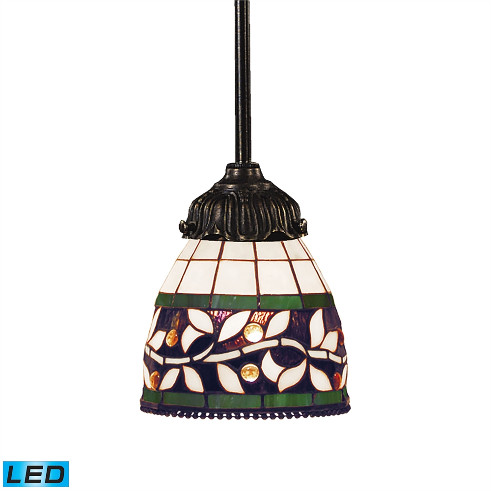 Elk Lighting Fans: ELK Lighting Mix-N-Match 1 Light LED Pendant In Tiffany