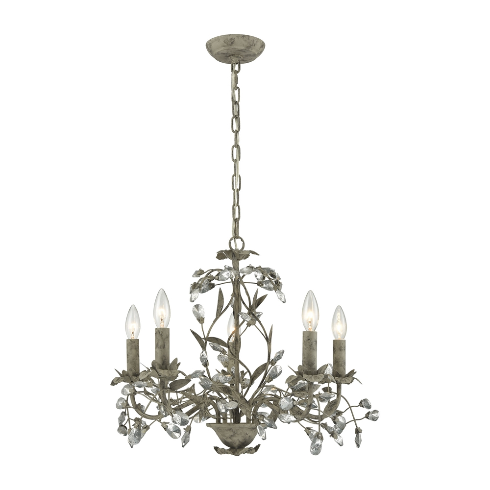 Elk Lighting Fans: ELK Lighting Circeo 5 Light Chandelier In Marble Gray