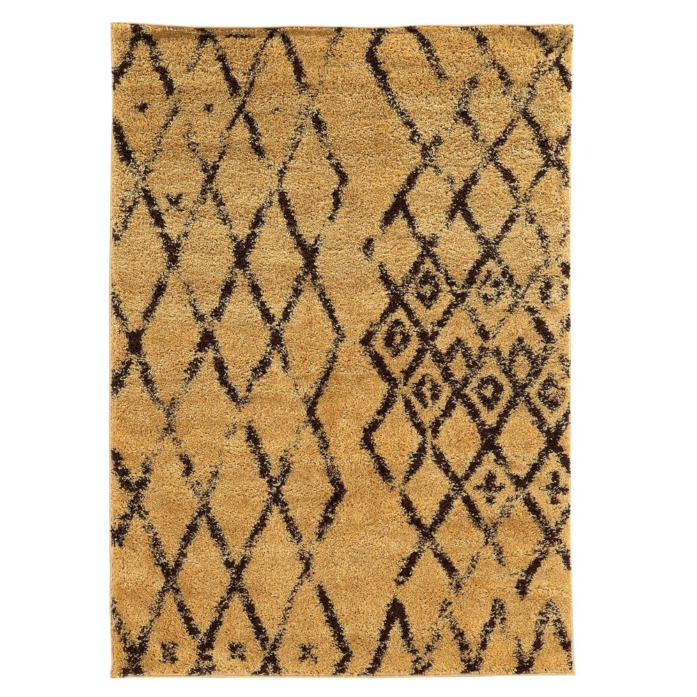 Linon Moroccan Marrakes Camel Brown 3x5 753793925998 Ebay