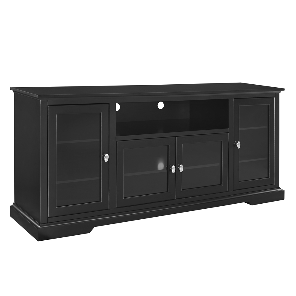 walker edison 70 black wood highboy tv stand ebay. Black Bedroom Furniture Sets. Home Design Ideas