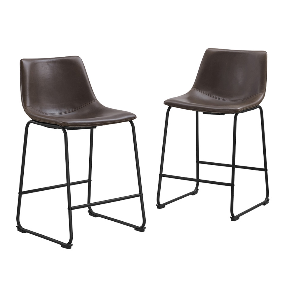 Leather And Metal Kitchen Chairs