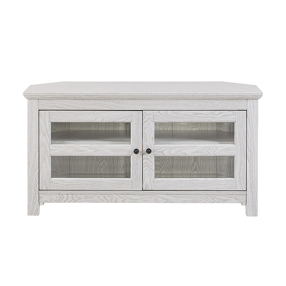 walker edison 44 white wash wood tv stand. Black Bedroom Furniture Sets. Home Design Ideas
