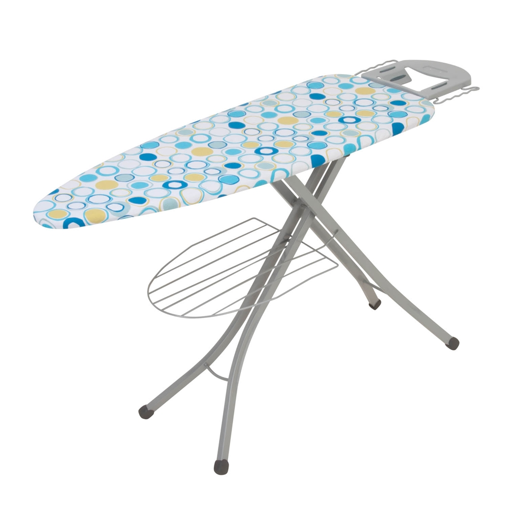 Honey Can Do 18x48 Ironing Board With Rest And Shelf Blue