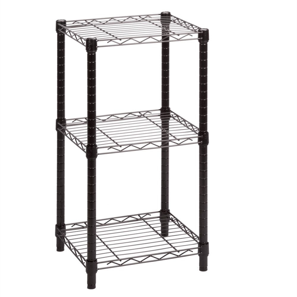 Versatile and super sturdy, the Adjustable 5-Tier Wire Shelving Unit from Room Essentials offers a simple storage solution for any room. The shelves are strong enough to hold anything from small appliances to canned goods.