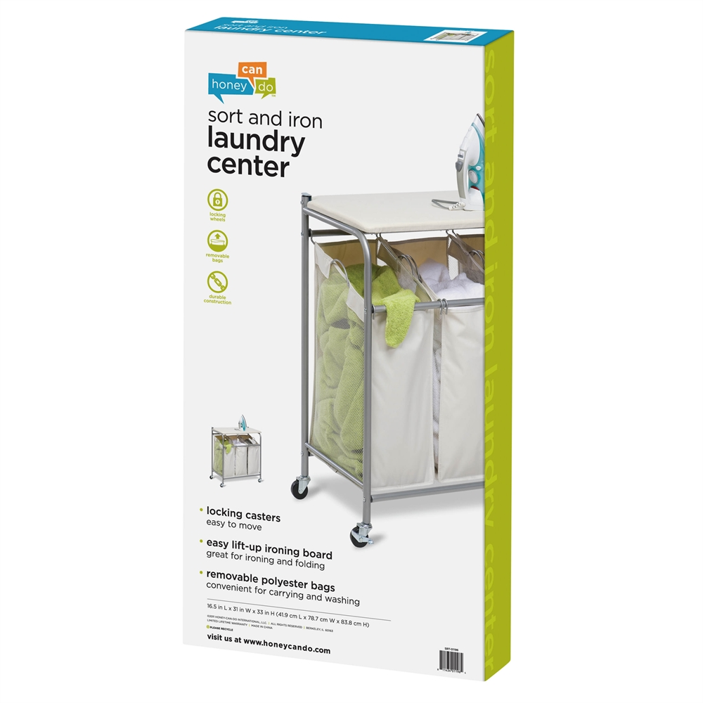 honey can do ironing and sorter combo laundry center natural color ebay. Black Bedroom Furniture Sets. Home Design Ideas