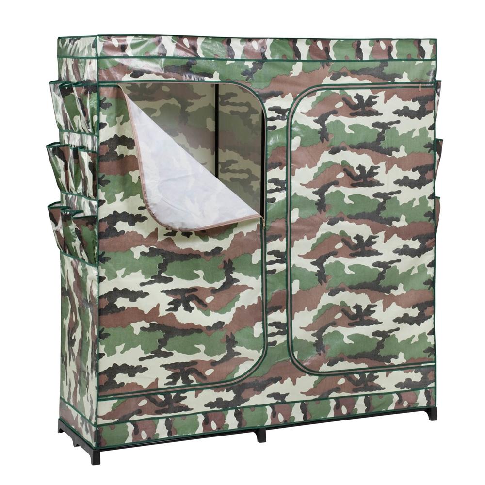 Honey Can Do 60in Double Door Storage Closet Camouflage With Shoe Organizer Ebay