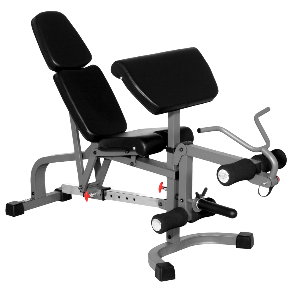 Xmark Fid Flat Incline Decline Weight Bench With Leg Extension And Preacher Ebay