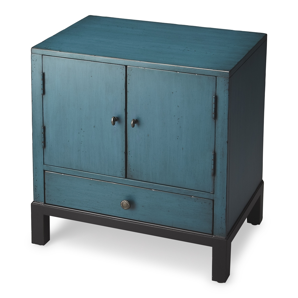 Distress Cabinets: Butler Courtland Distressed Blue Accent Cabinet