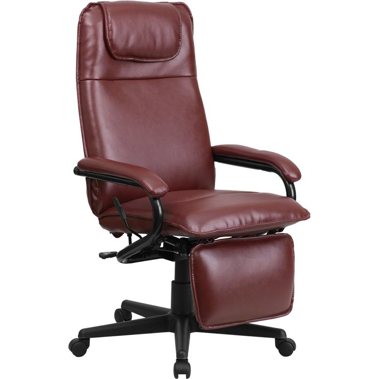 Flash Furniture High Back Burgundy Leather Executive ...