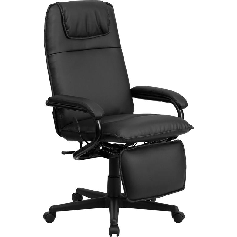 furniture high back black leather executive reclining swivel office