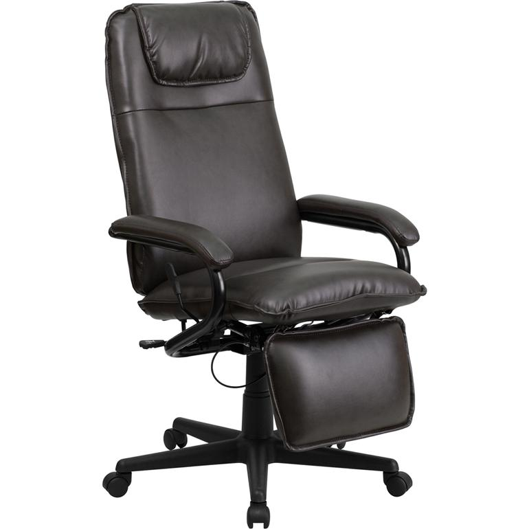 Flash Furniture High Back Brown Leather Executive