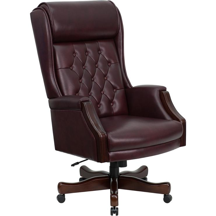 Flash Furniture High Back Traditional Tufted Burgundy