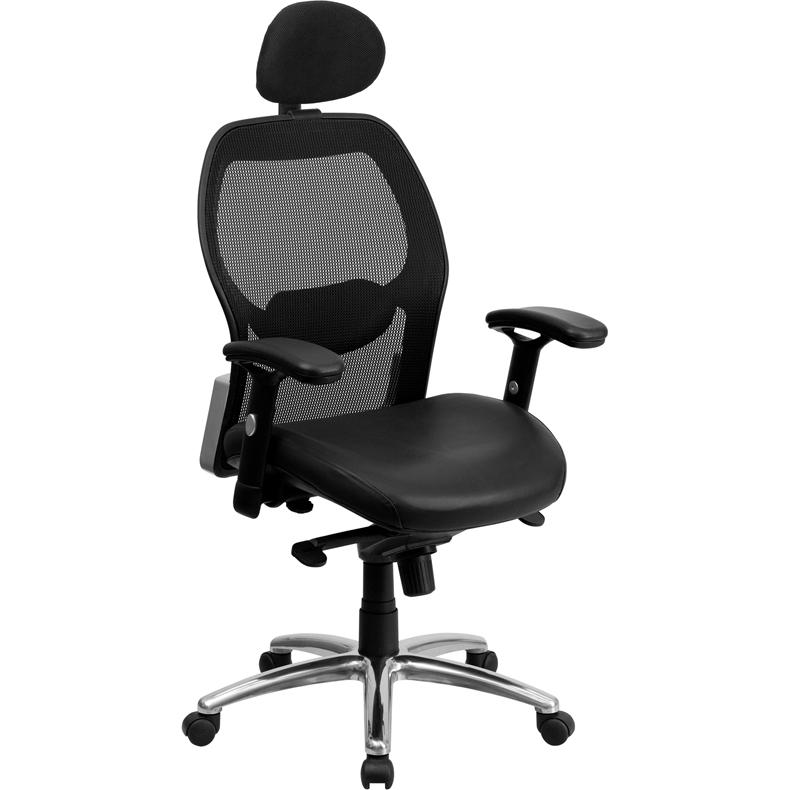 furniture high back black super mesh executive swivel office chair