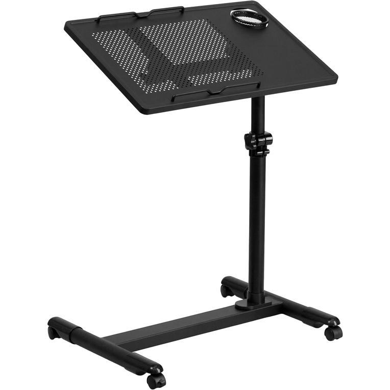 Flash Furniture Black Adjustable Height Steel Mobile