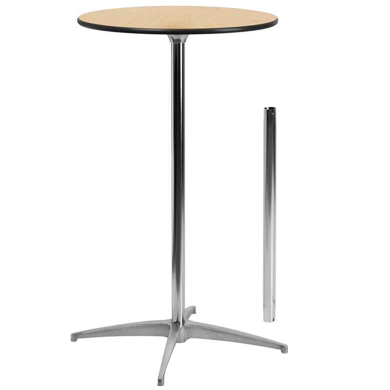 Details About Flash Furniture 24 Round Wood Tail Table With 30 And 42 Columns
